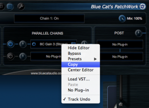 Copy a plug-in and its settings from Blue Cat's PatchWork