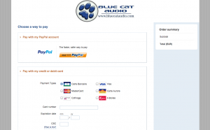 The new Payment System on www.bluecataudio.com