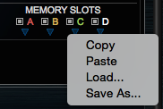 New features to manage memory curves