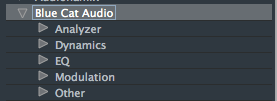 VST3 Categories