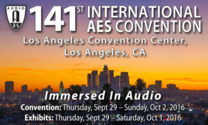 141st AES Convention, Los Angeles