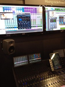 Blue Cat's MB-7 Mixer controlled by the AVID S6 (NAMM 2014)