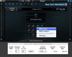 MIDI Control - Blue Cat's PatchWork