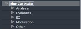 VST3 Categories