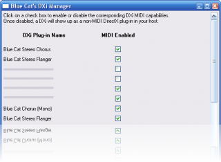 Blue Cat's DXi Manager - Enable DXi plug-ins in non DXi-aware applications (Freeware)