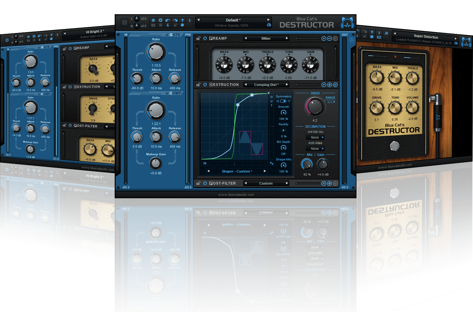 Blue Cat's Destructor - Distortion and Amp Simulation Plug-In (VST, AU, AAX, VST3)