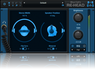 Blue Cat's Re-Head - Head Response Simulator for Headphones (VST, VST3, AAX and Audio Unit Plug-in)