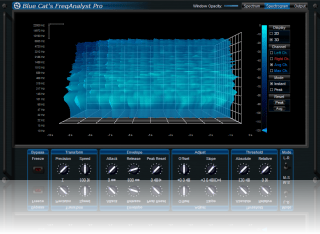 Spectro Blue Skin for Blue Cat's FreqAnalyst Pro, by [Blue Cat Audio]