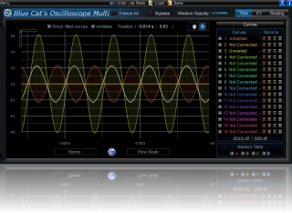 Small Screen (for V1) Skin for Blue Cat's Oscilloscope Multi, by Blue Cat Audio