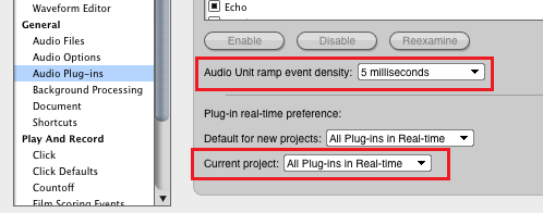 Step 00 - In the Preferences pane, change the plug-in mode and adjust the events density (lower is more precise but higher CPU)