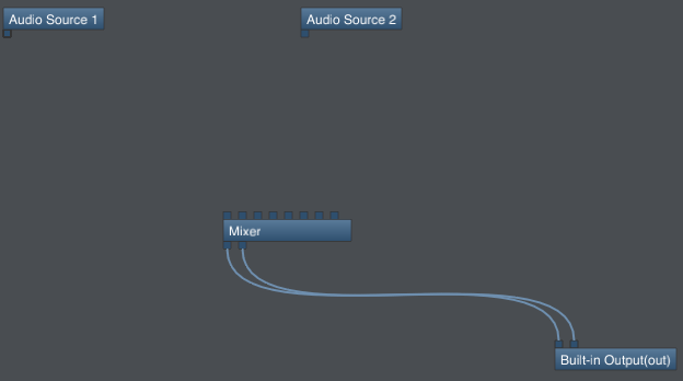 Step 01 - Start with two audio sources and the main mixer