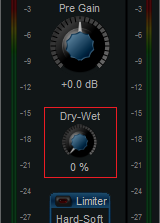 Step 02.2 - On the source plug-in (MB-5 Dynamix), turn the Dry-Wet knob down to zero (so that the plug-in has no effect on the source track)
