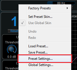 Step 03 - On the source plug-in, open the preset settings