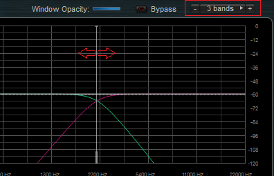 Step 08 - Setup the number of bands on the MB-7 Mixer plug-in and adjust frequency ranges